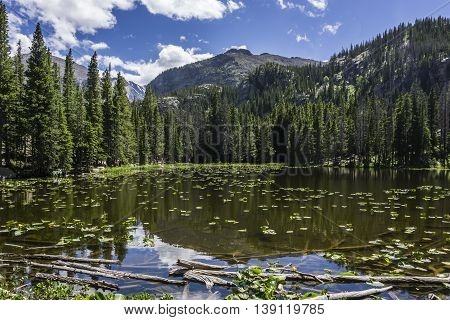 Lake in Rocky Mountain National Park Colorado