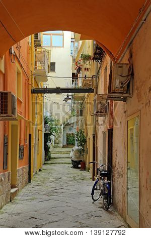 GAETA ITALY - JUNE 25 2016: View of the old city