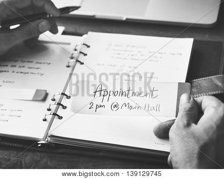Appointment Agenda Meting Digital Tablet Concept