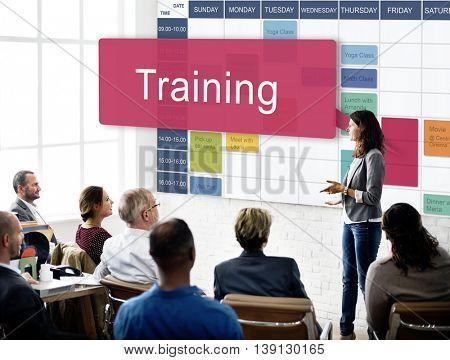 Business Training Community Forum Discussion Concept