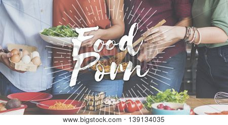 Food Porn Commercial Advertising Tasty Delicious Concept poster