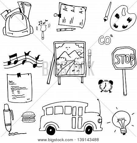 Doodle school stock vector art hand draw
