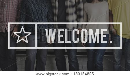 Welcome Greeting Welcoming Launch Available Concept
