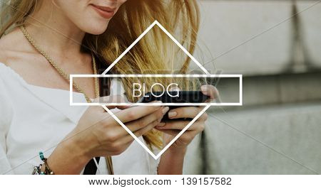 Blog Blogging Online Design Web Page Website Concept