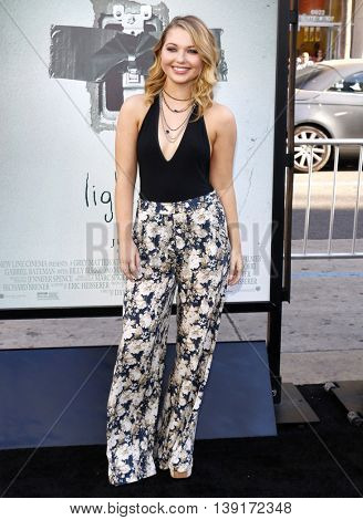 Sammi Hanratty at the Los Angeles premiere of 'Lights Out' held at the TCL Chinese Theater in Hollywood, USA on July 20, 2016.