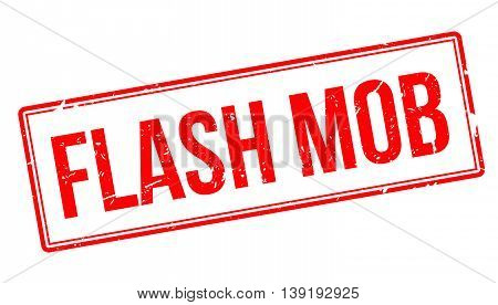 Flash Mob Rubber Stamp