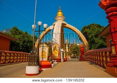 Buddhist Pagoda In A Small Town Sagaing, Myanmar