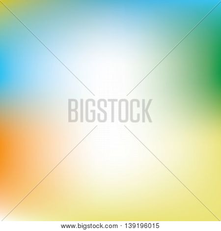 Abstract blur background in color of summer athletic games in Rio de Janeiro, Brazil 2016. Vector illustration with orange, yellow, blue and green colors