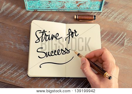 Handwritten Text Strive For Success