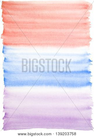 Light watercolor background in red blue and purple colors