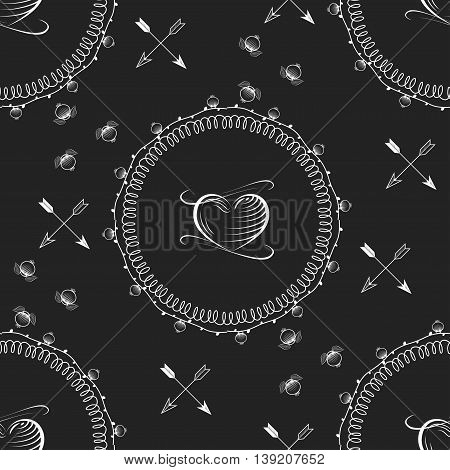Seamless wallpaper pattern with flowers. Hand drawn flower pattern. Vector pattern with flowers and plants. Vector floral background