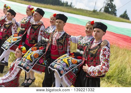 Bulgarian Dancers In Folklore Costumes