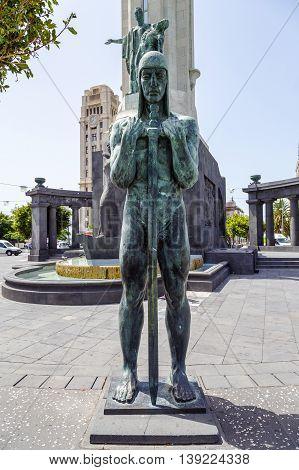 Tribute to the fallen in the Civil War 1936-1939 in Santa Cruz Tenerife Spain