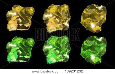 Crystals Green And Yellow Color