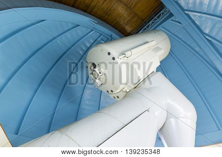 Big Professional Telescope In An Observatory