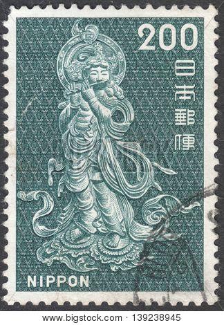 Onjo Bosatsu (relief from bronze lantern Todai Temple) the series