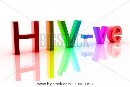 Digital illustration of HIV in white background