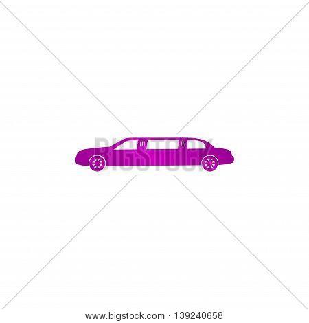 Limousine Icon. Vector Concept Illustration For Design.
