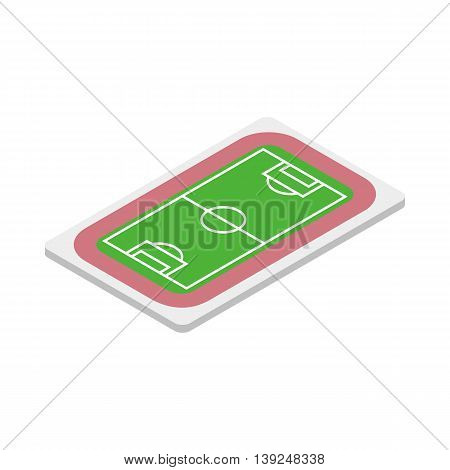 Soccer field icon in isometric 3d style isolated on white background