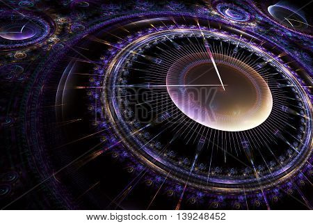 Cosmic clock shows the time remaining before the start of a new period of life