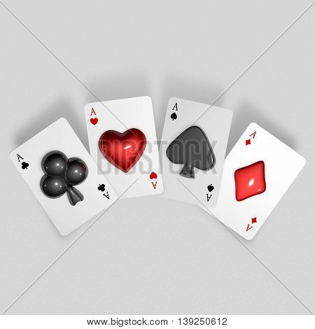 3D Playing Card Suits Pop Up From Trumps