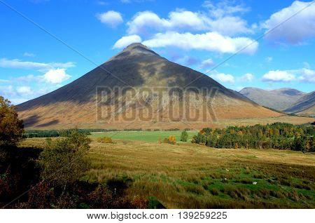 Beinn Dorain, a Scottish mountain of just over 3500 feet located near the village of Bridge of Orchy in Argyll and Bute area of Scotland. The mountain is classed as a