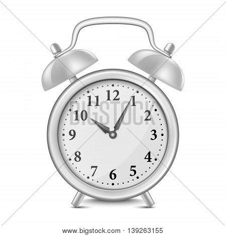 Alarm clock isolated on white. Vector EPS10 illustration.