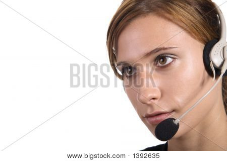 Attractive Female Call Centre Agent
