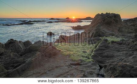 Sunset over Bean Hollow State Beach, Pescadero, California, USA