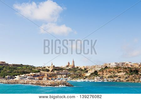 Port of Mgarr on the small island of Gozo Malta.