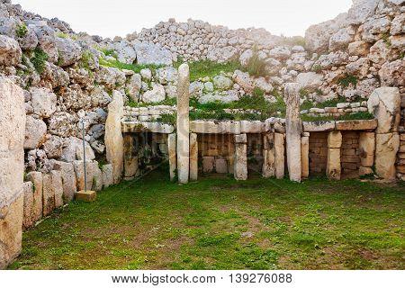 Neolithic megalith temple complex of Ggantija (Tempji Neolitici Tal-Ggantija