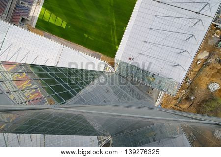 MOSCOW - APR 21, 2016: Stadium under construction, New Stadium CSKA Moscow will be built at end of 2016