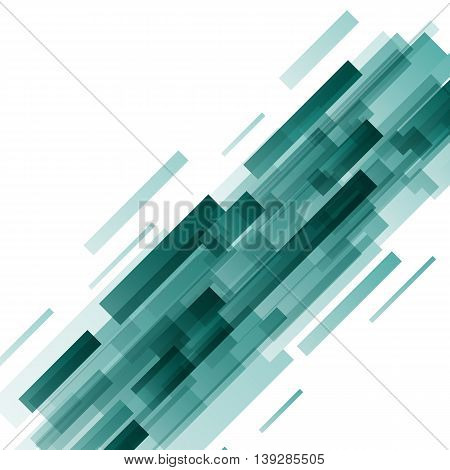 Abstract green rectangles technology background, stock vector