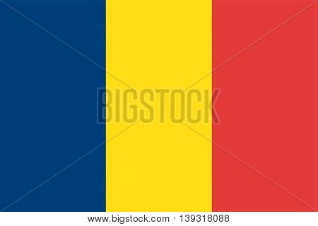 Vector Republic of Chad flag