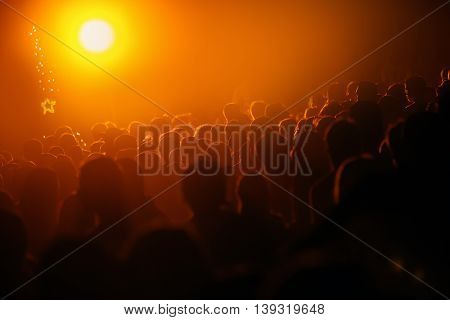 Large group of people symbolizing overpopulation on planet