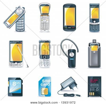 Vektor-Mobiltelefone-Icon-set
