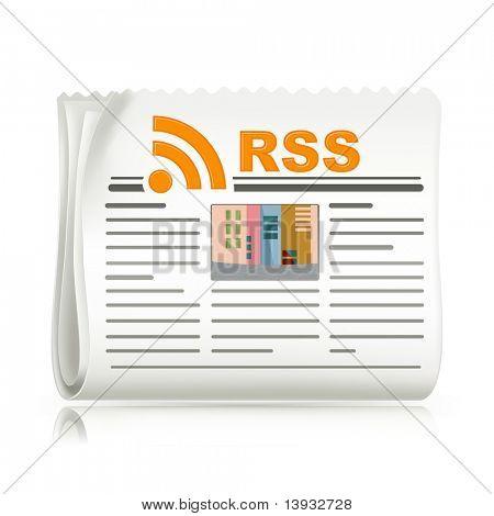 Rss headline, vector icon