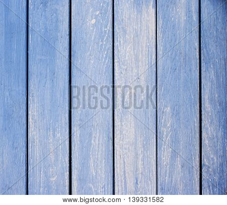 Light blue colored old wooden for background.