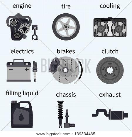 Set Car Parts.