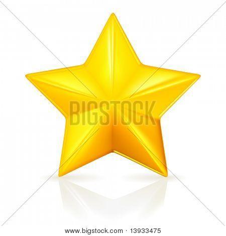 Gold star, mesh