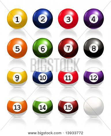 Billiard balls, vector