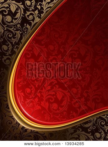 Luxury red and black Background, vector