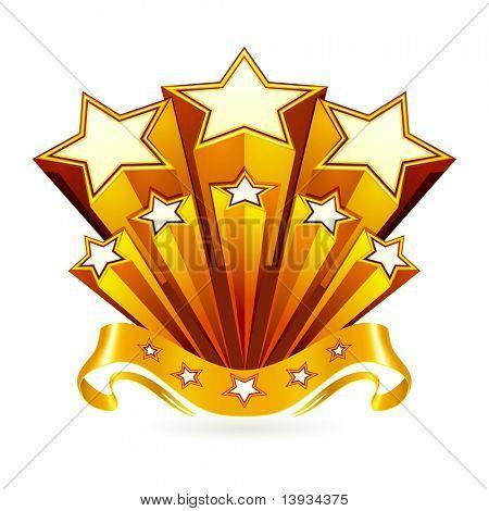 Gold emblem, vector