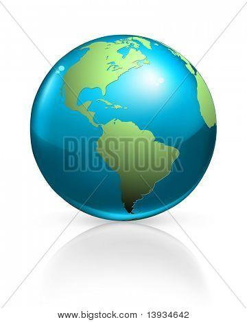 Blue globe, vector