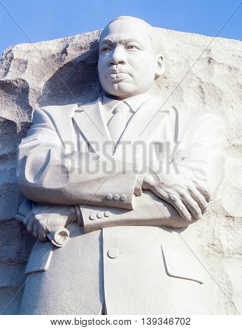 Granite Statue of Martin Luther King, West Potomac Park, Washington DC
