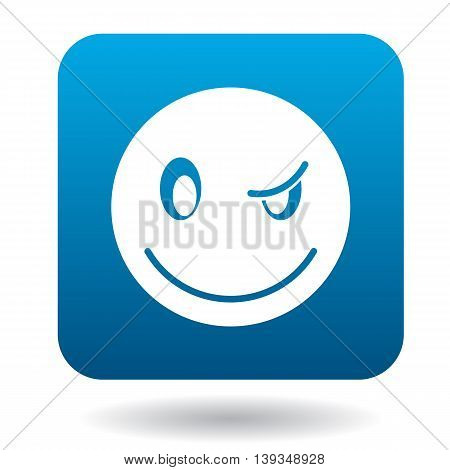 Eyewink suspicious emoticon icon in simple style on a white background
