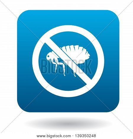 No flea sign icon in simple style on a white background