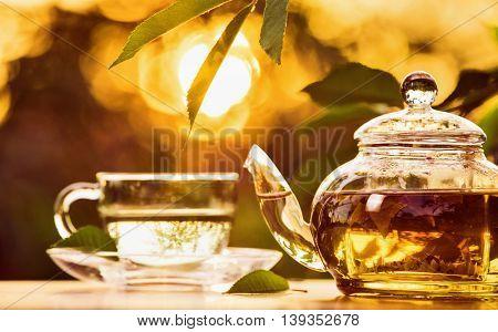 Teatime at sunset