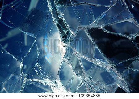 an image of broken window