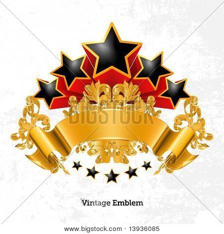 Vintage Emblem, Vector